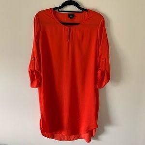 Missimo Large Long Sleeve Orange Shift Dress